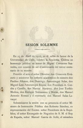 Sesión solemne