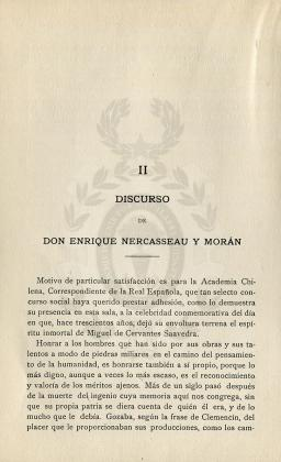 Discurso de don Enrique Nercasseau y Morán (23 de abril de 1916)